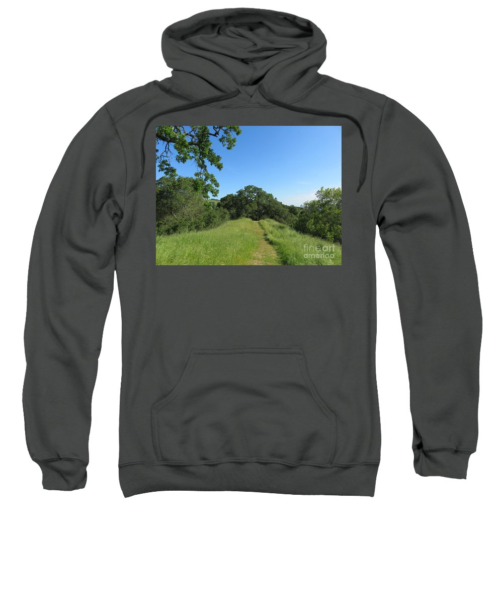 Landscape Sweatshirt featuring the photograph Spring Hike by Suzanne Leonard
