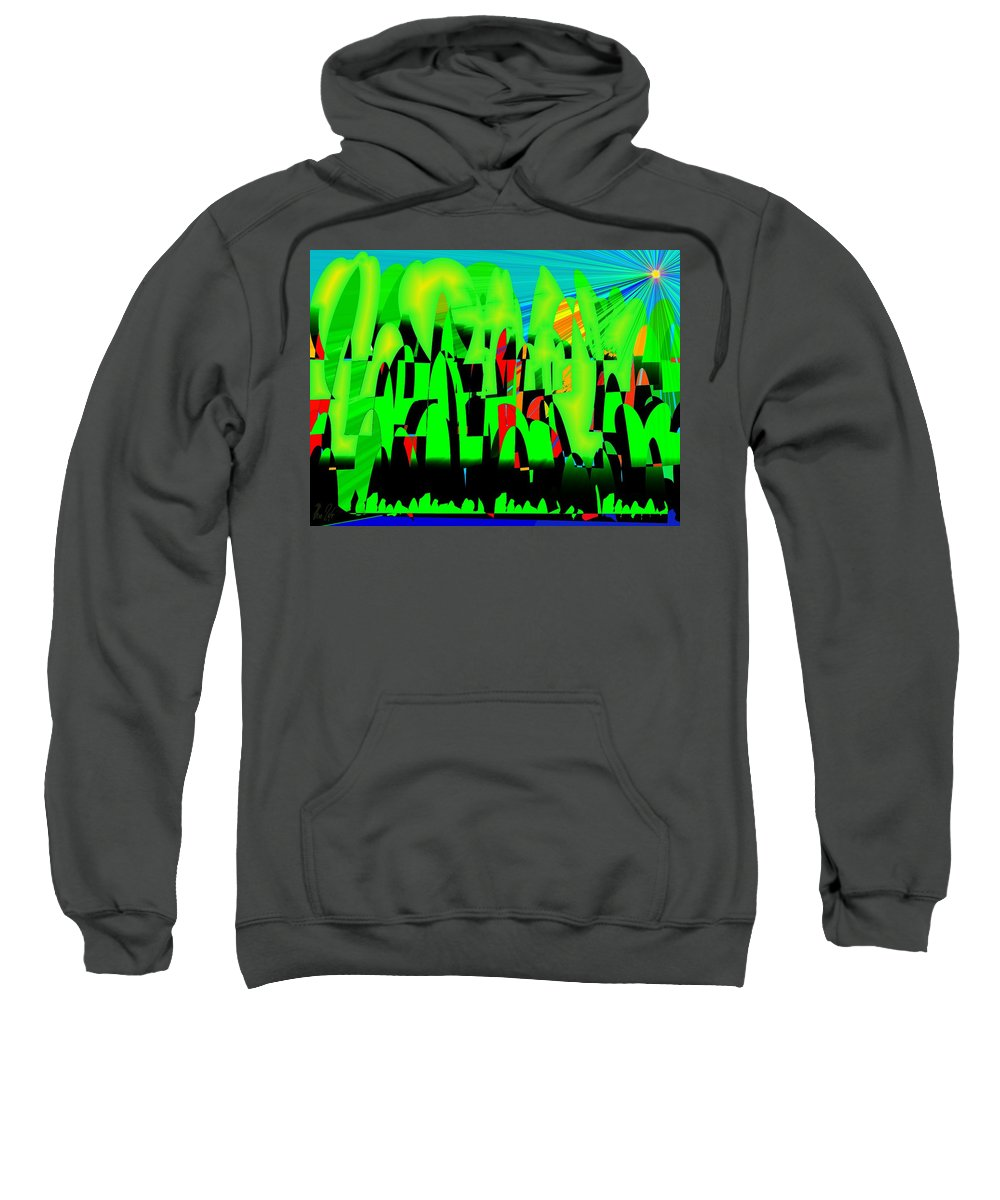 Spring.forest Sweatshirt featuring the digital art Spring In Digital Forest by Helmut Rottler