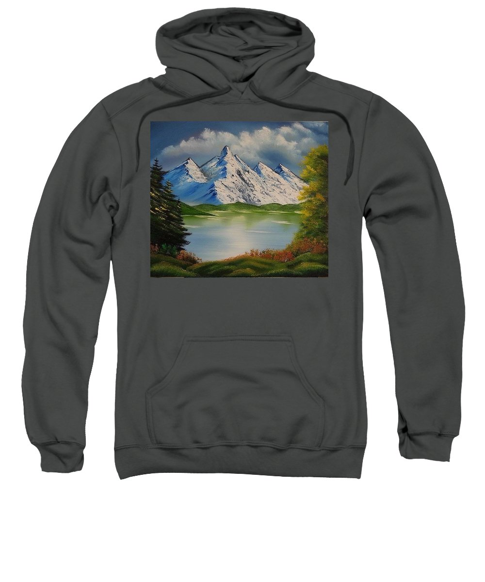 Spring Lake Sweatshirt featuring the painting Spring Lake by Nadine Westerveld