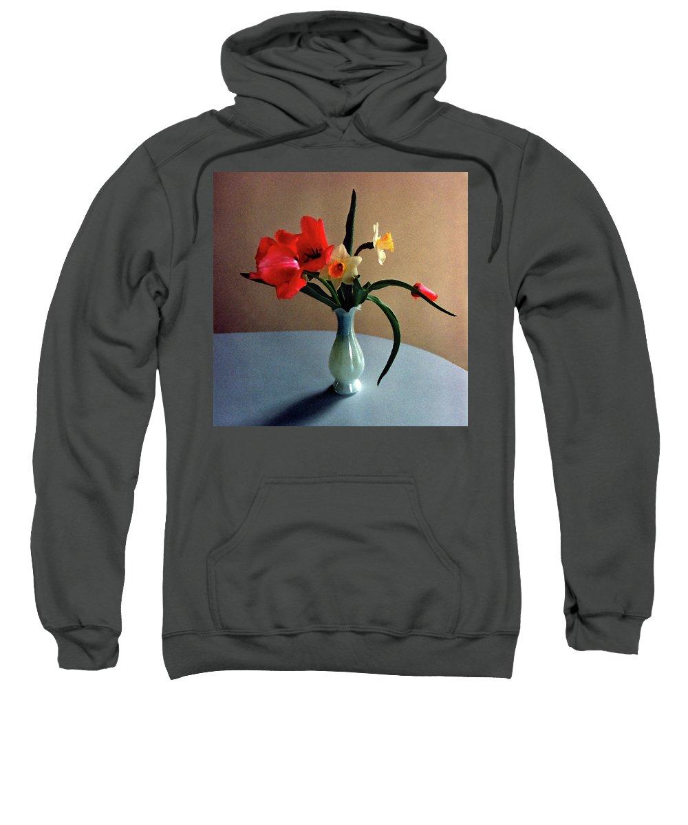 Spring Sweatshirt featuring the digital art Spring Still Life by Steve Karol