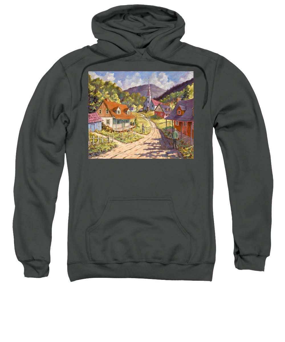 Art Sweatshirt featuring the painting Spring Time Sun by Richard T Pranke