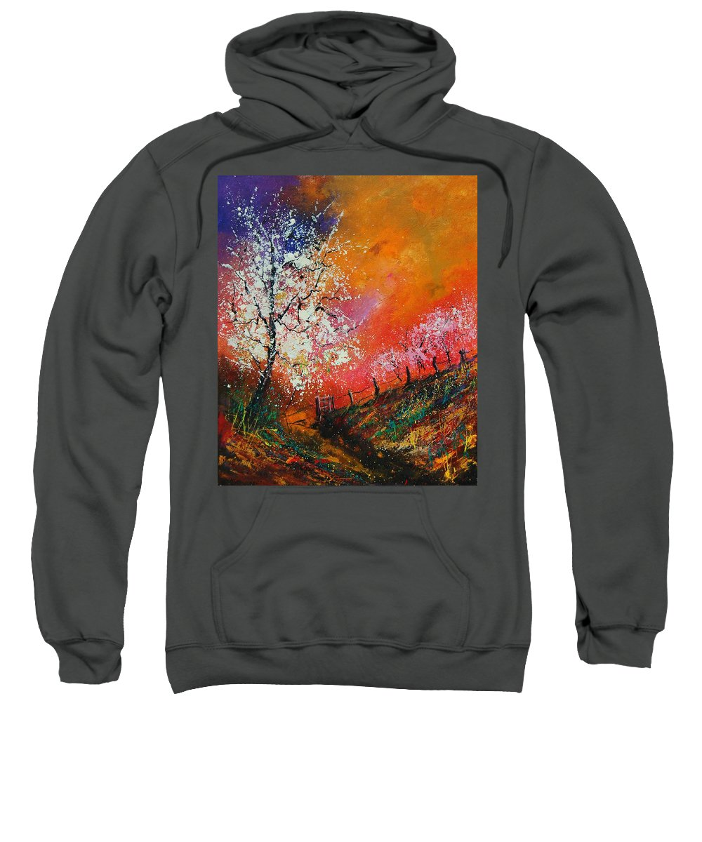 Spring Sweatshirt featuring the painting Spring Today by Pol Ledent