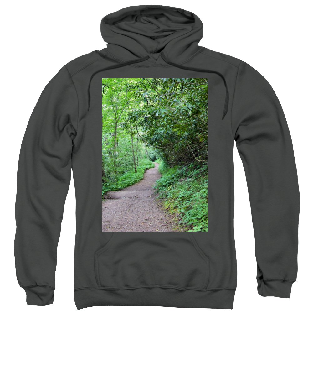 Path Sweatshirt featuring the digital art Springing Down The Path by Kristin Elmquist
