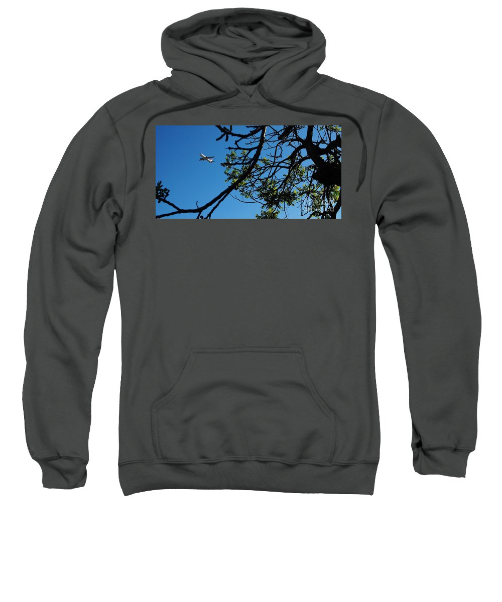Airplanes Sweatshirt featuring the photograph Springtime In The City by Angela J Wright