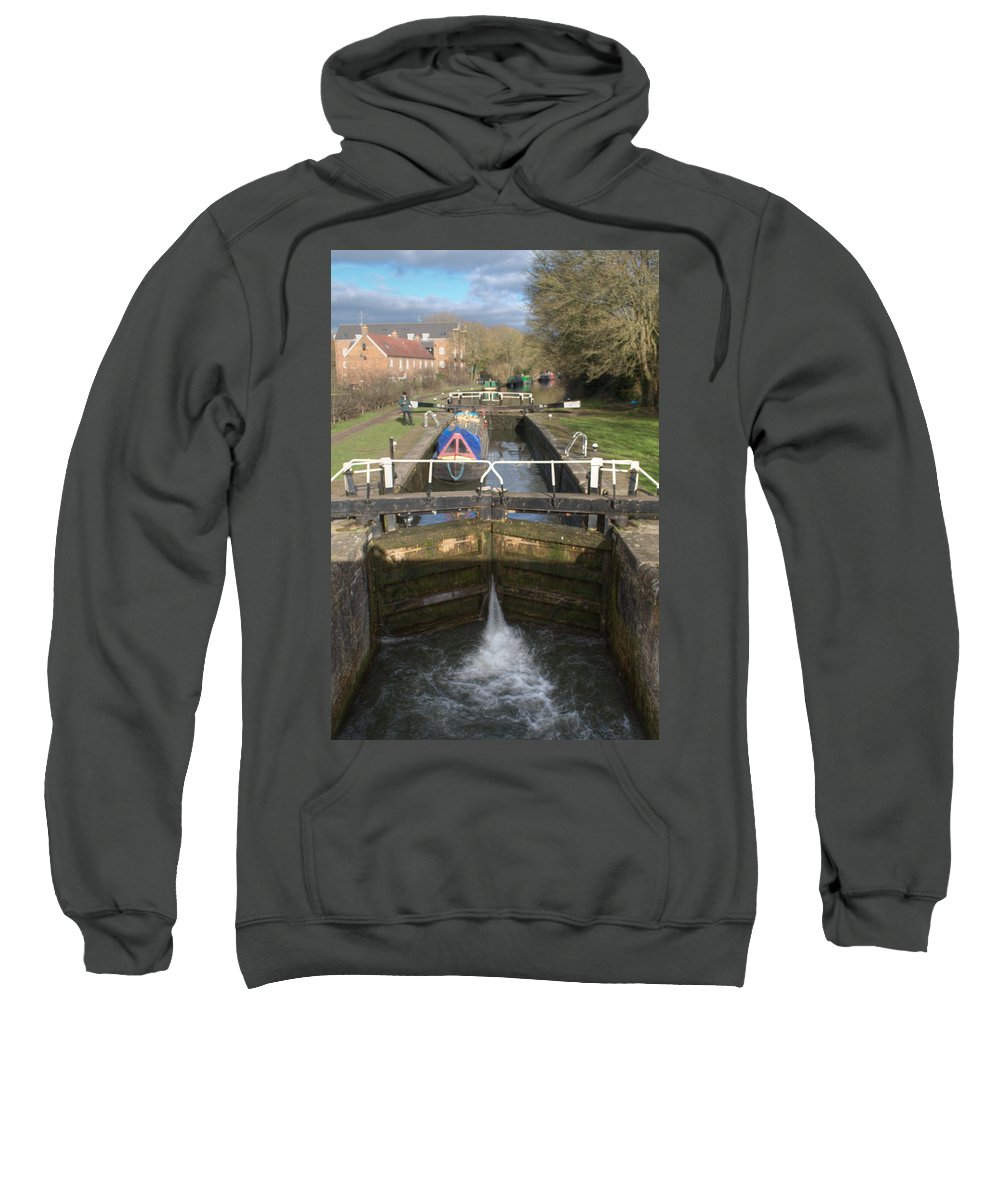 Springwell Sweatshirt featuring the photograph Springwell Lock Rickmansworth by Chris Day