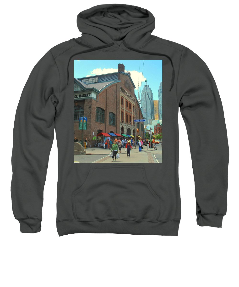 Market Sweatshirt featuring the photograph St Lawrence Market by Ian MacDonald