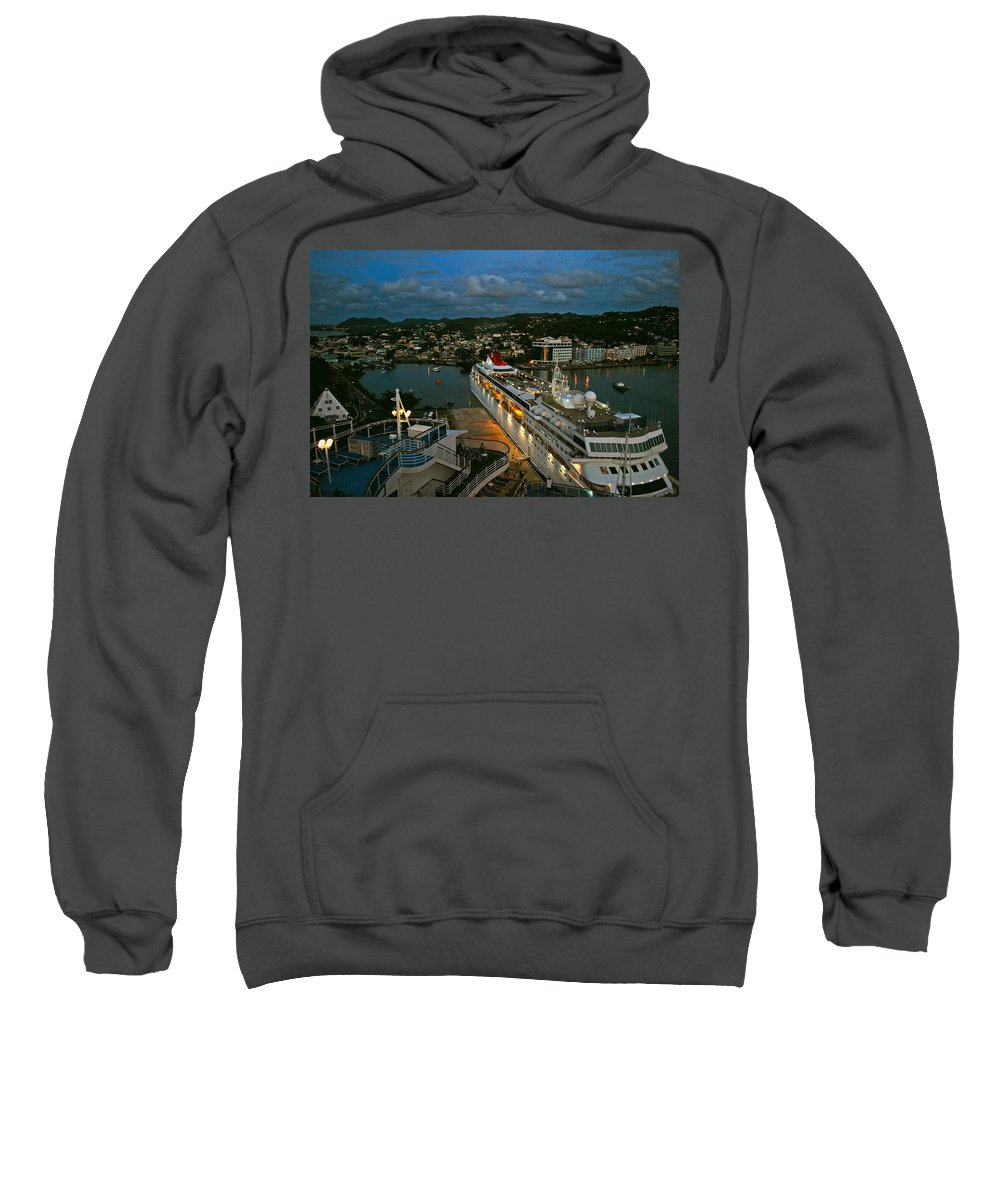 St.lucia Sweatshirt featuring the photograph St. Lucia In The Evening by Gary Wonning