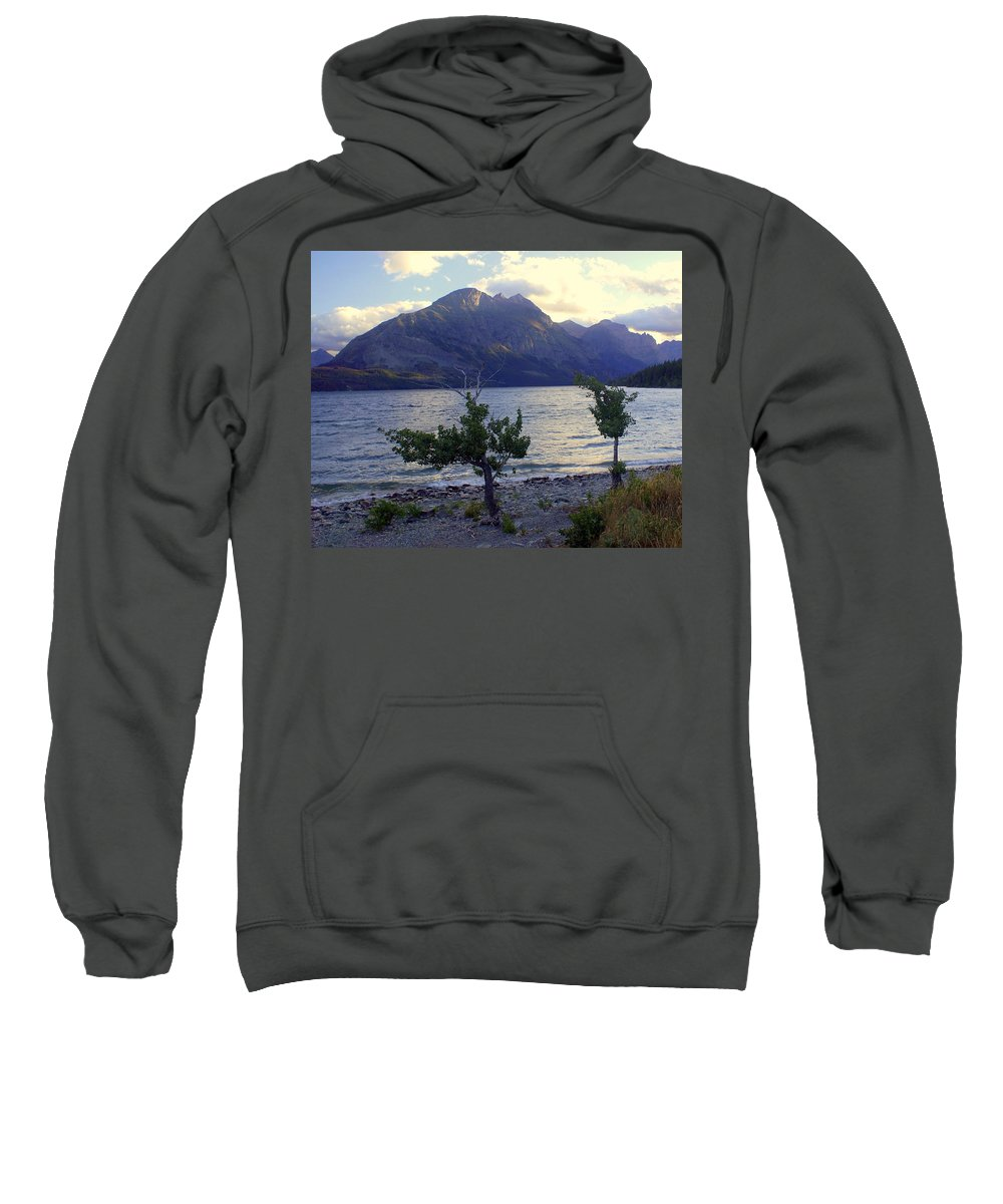 St. Mary's Lake Sweatshirt featuring the photograph St. Mary Lake by Marty Koch