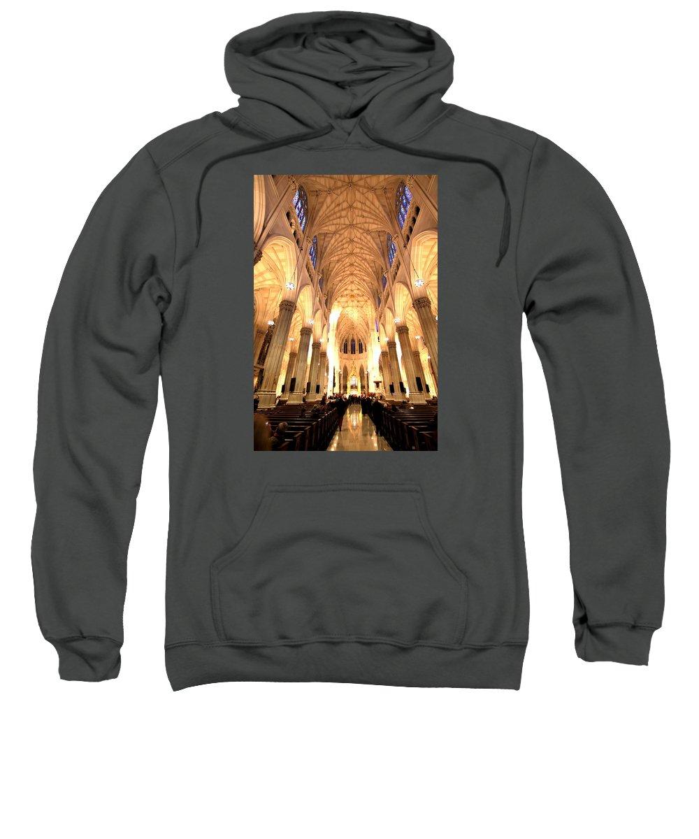 Bill Joseph Sweatshirt featuring the photograph St. Patricks Cathedral by William Joseph