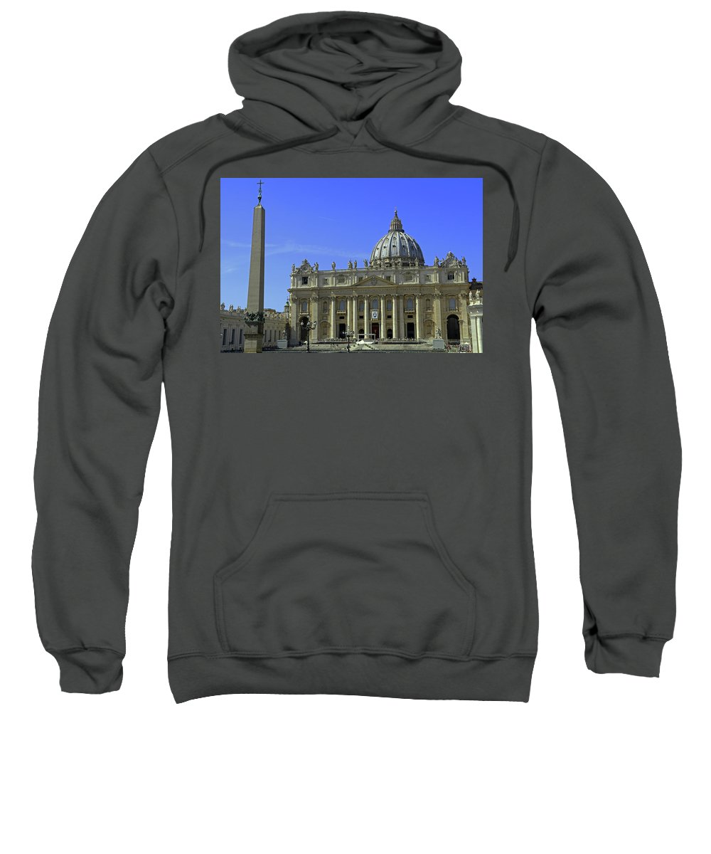 St. Peter's Basilica Sweatshirt featuring the photograph St Peters Basilica by Tony Murtagh