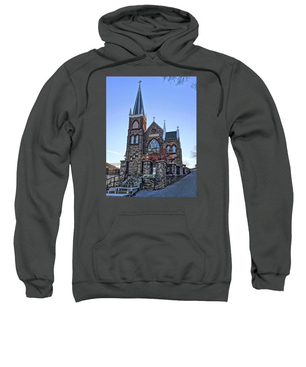 St. Peter's Sweatshirt featuring the photograph St. Peter's Harpers Ferry by Chris Montcalmo