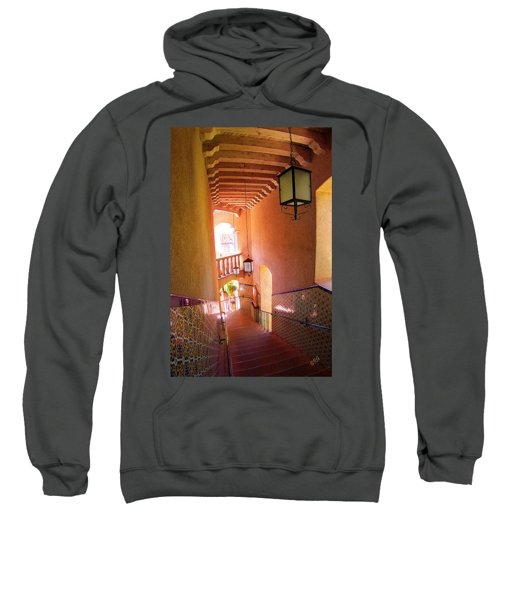 Architecture Sweatshirt featuring the photograph Stairway by Ben and Raisa Gertsberg