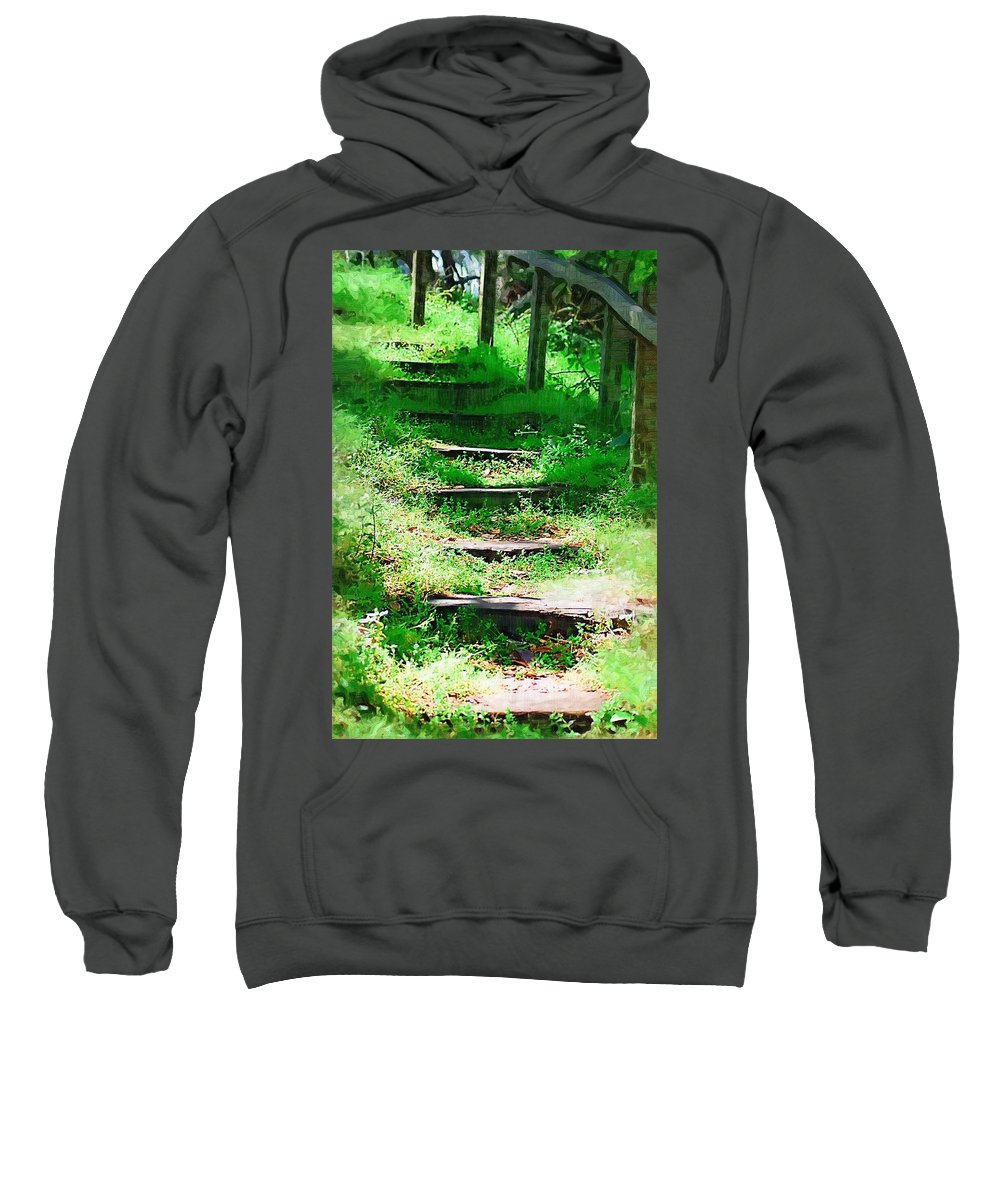 Stairs Sweatshirt featuring the photograph Stairway To Heaven by Donna Bentley