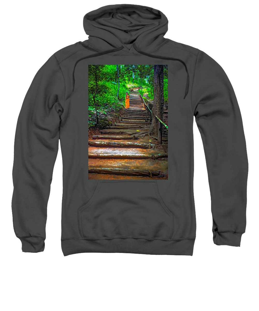 Jungle Sweatshirt featuring the photograph Stairway To Heaven by Steve Harrington