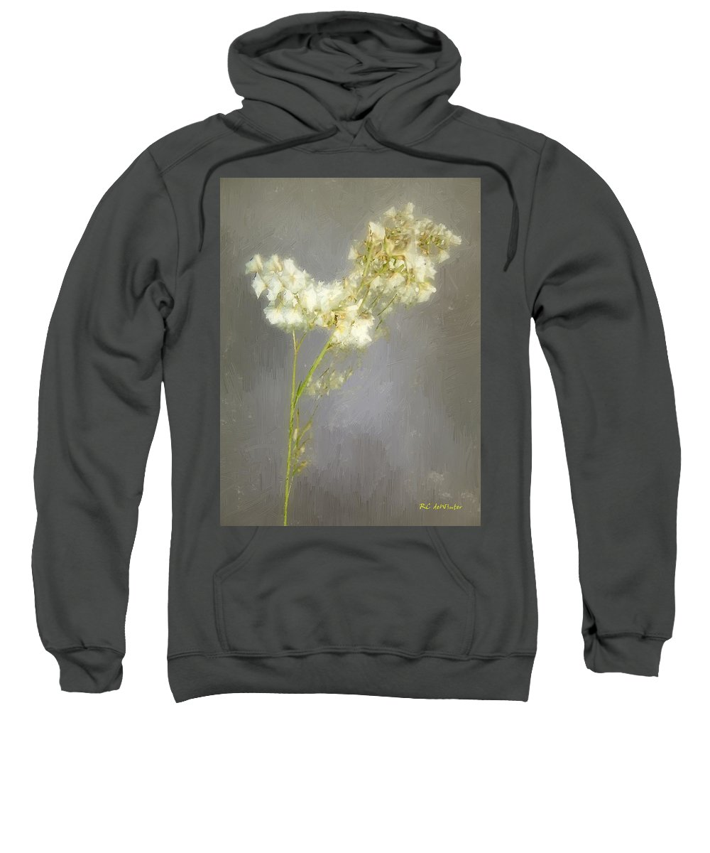 Flowers Sweatshirt featuring the painting Stalk Of Pearls by RC DeWinter