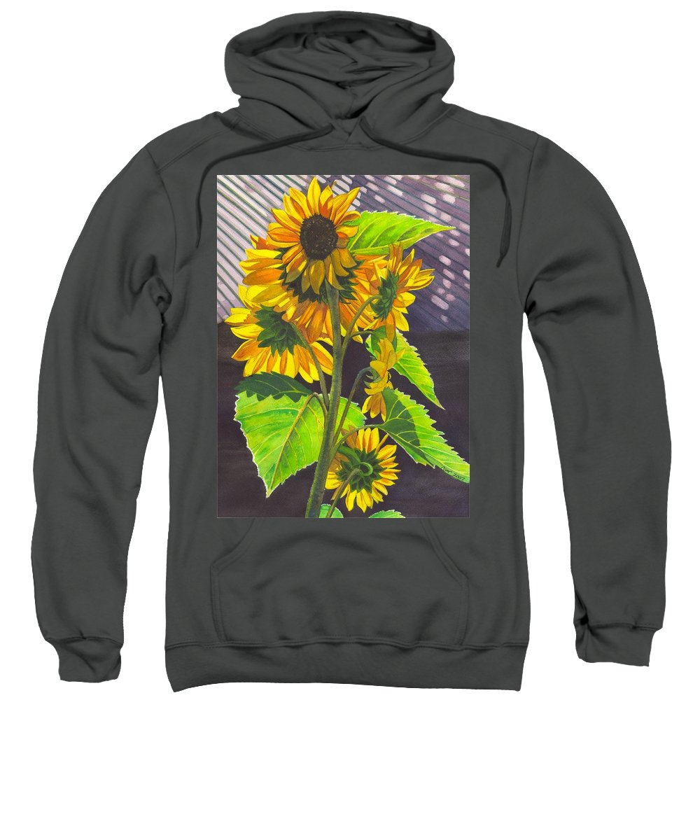 Sunflowers Sweatshirt featuring the painting Stalk Of Sunflowers by Catherine G McElroy