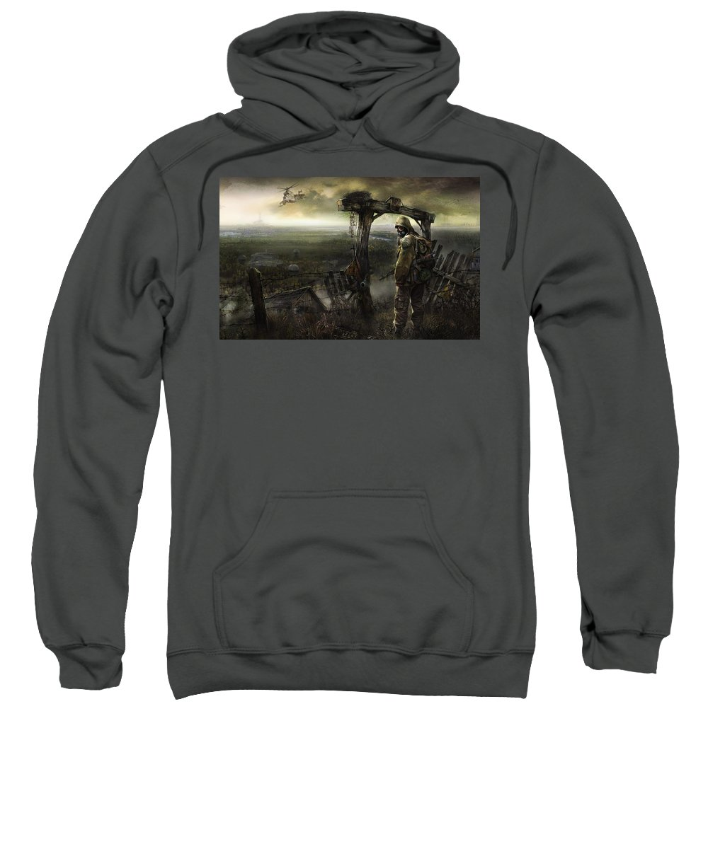 S.t.a.l.k.e.r. Sweatshirt featuring the digital art S.t.a.l.k.e.r. by Bert Mailer