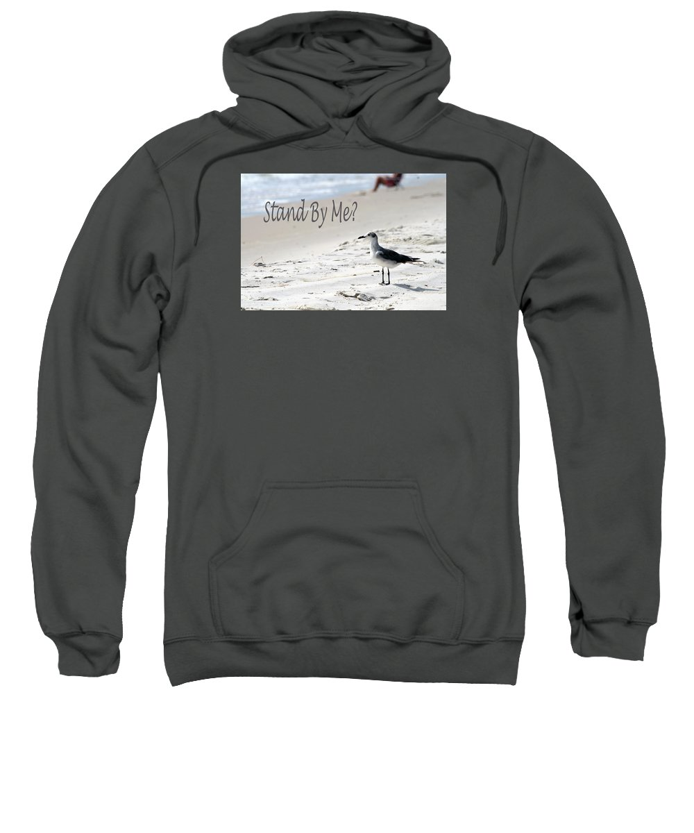 Seagull Sweatshirt featuring the photograph Stand By Me by Shirley Sykes Bracken