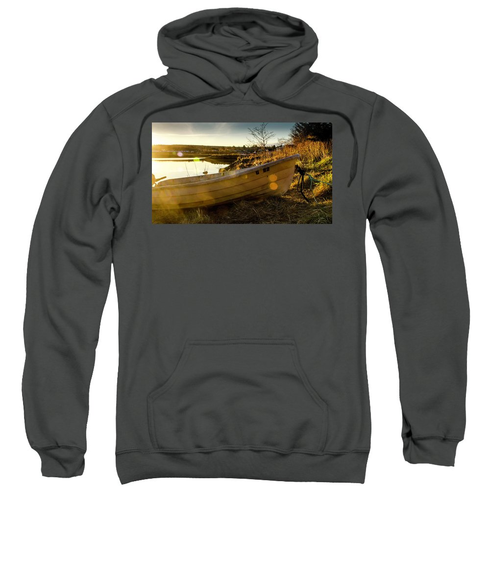 Sunset Sweatshirt featuring the photograph Stan's Captured Sunlight by Kathy Paynter