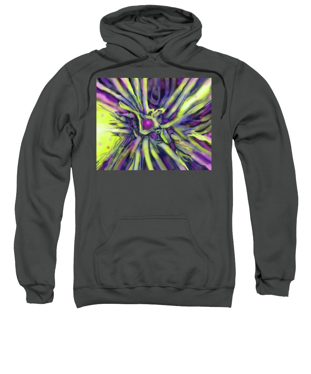 Abstract Sweatshirt featuring the digital art Star Burst by Ian MacDonald