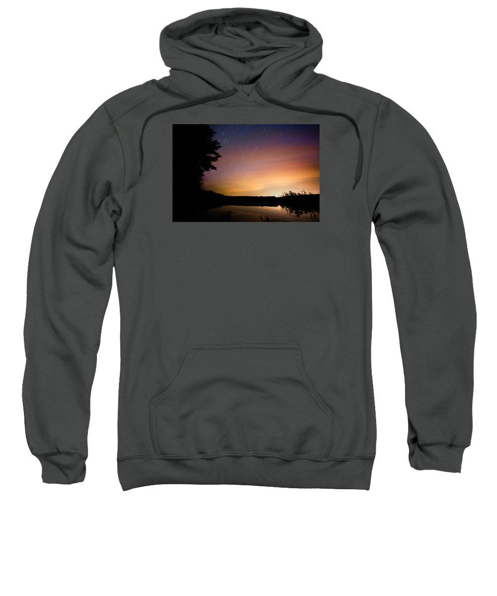 Sky Sweatshirt featuring the photograph Star Trails by Robert Och