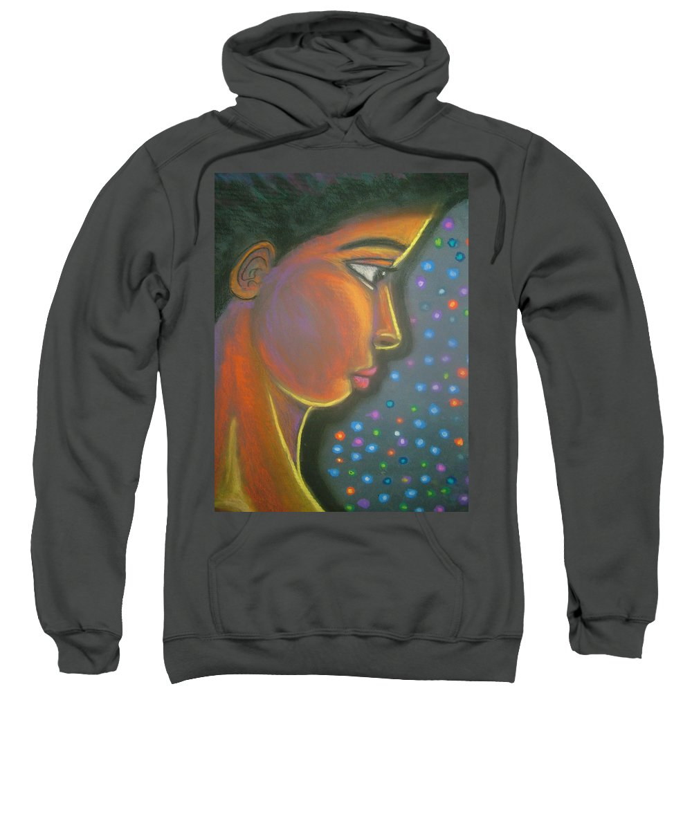 Sweatshirt featuring the drawing Starbrite by Jan Gilmore