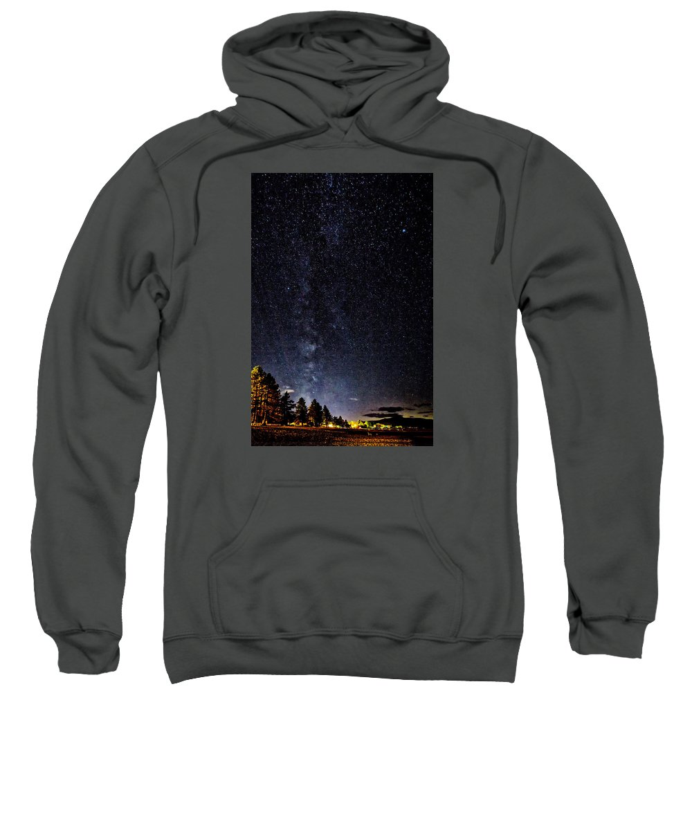 Night Sweatshirt featuring the photograph Stars At Lake Tahoe by Jim Young