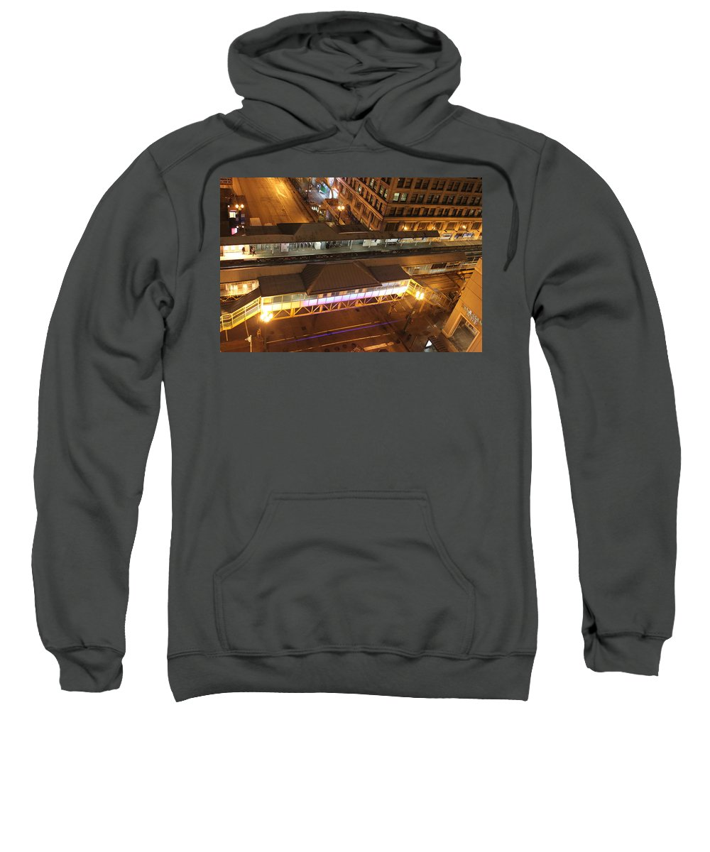 Chicago Sweatshirt featuring the photograph State And Lake by Lauri Novak