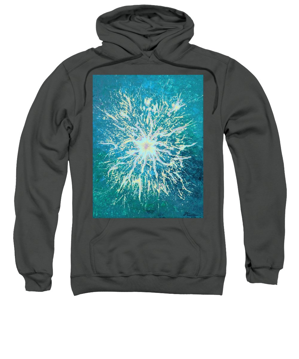Acrylic Sweatshirt featuring the painting Static by Todd Hoover