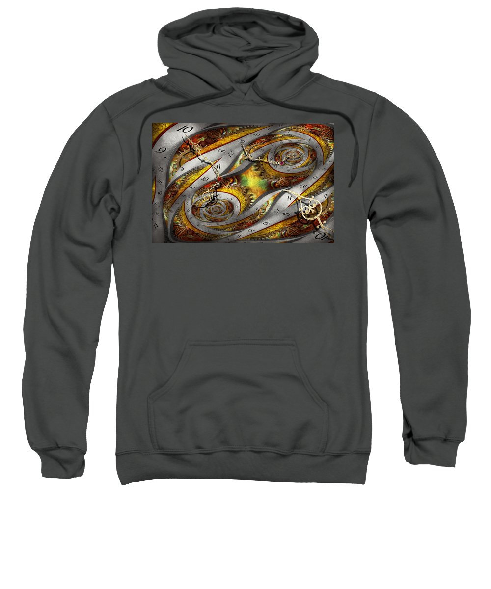 Steampunk Sweatshirt featuring the photograph Steampunk - Spiral - Space Time Continuum by Mike Savad