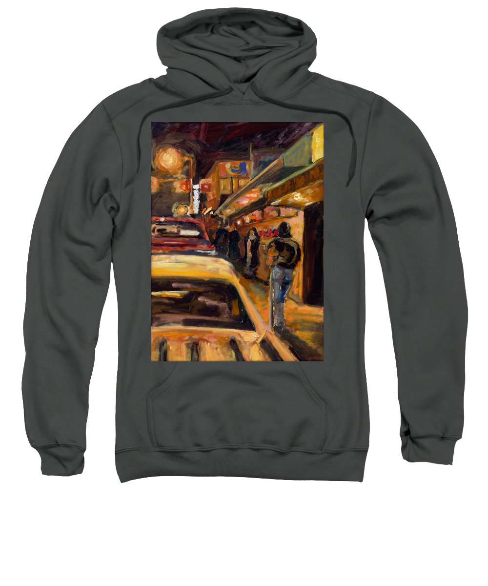 Rob Reeves Sweatshirt featuring the painting Steb's Amusements by Robert Reeves