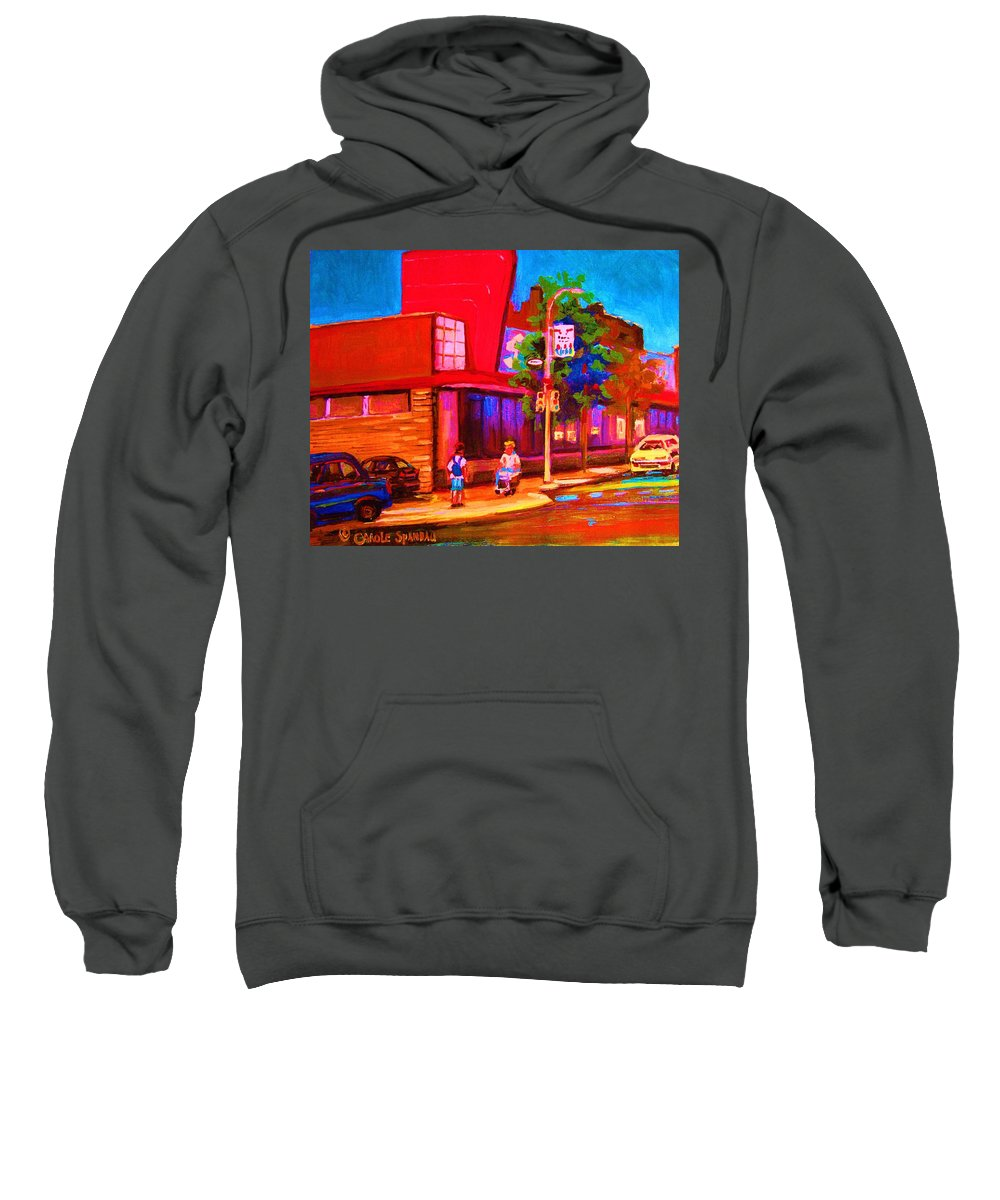 Steinbergs Sweatshirt featuring the painting Steinbergs Supermarket by Carole Spandau