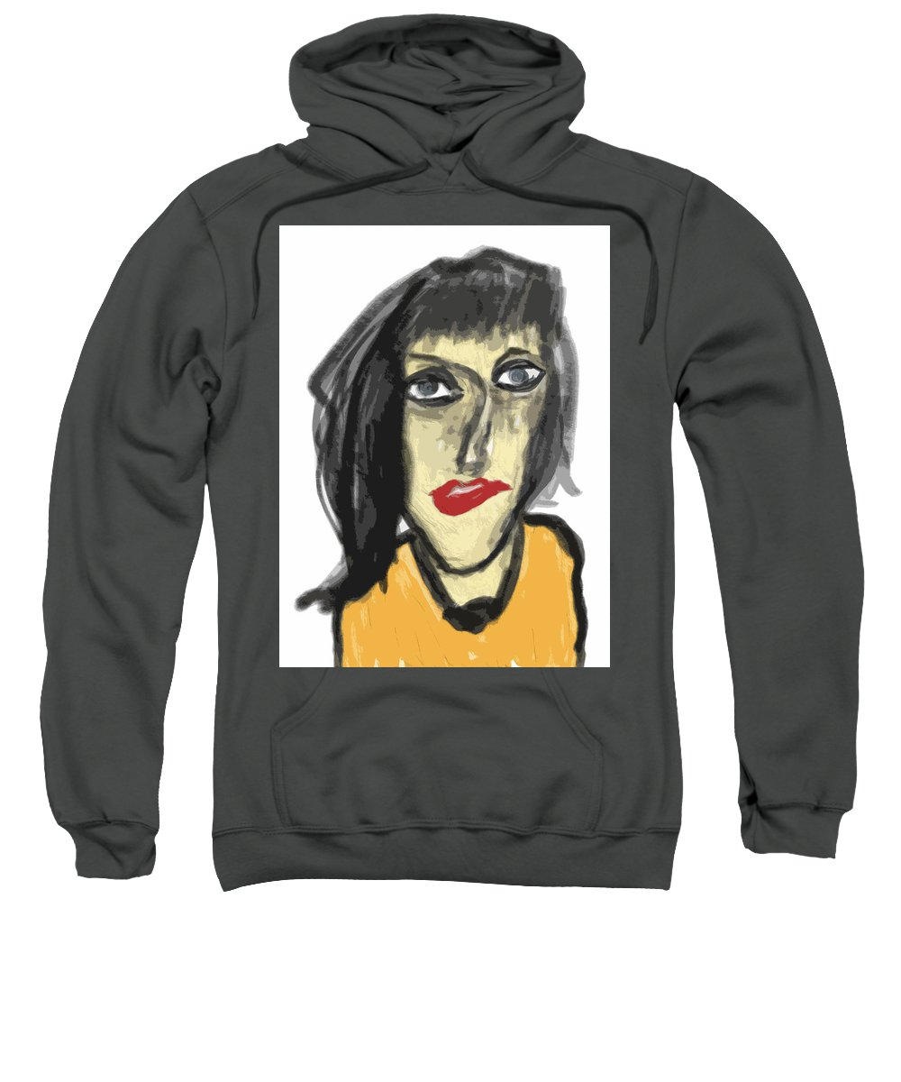 Apple Pencil Sweatshirt featuring the drawing Stella by Bill Owen