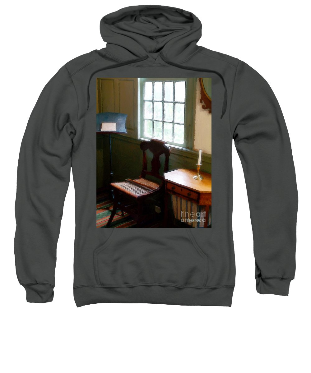 Still Life Sweatshirt featuring the painting Still Life, Stevens House by RC DeWinter