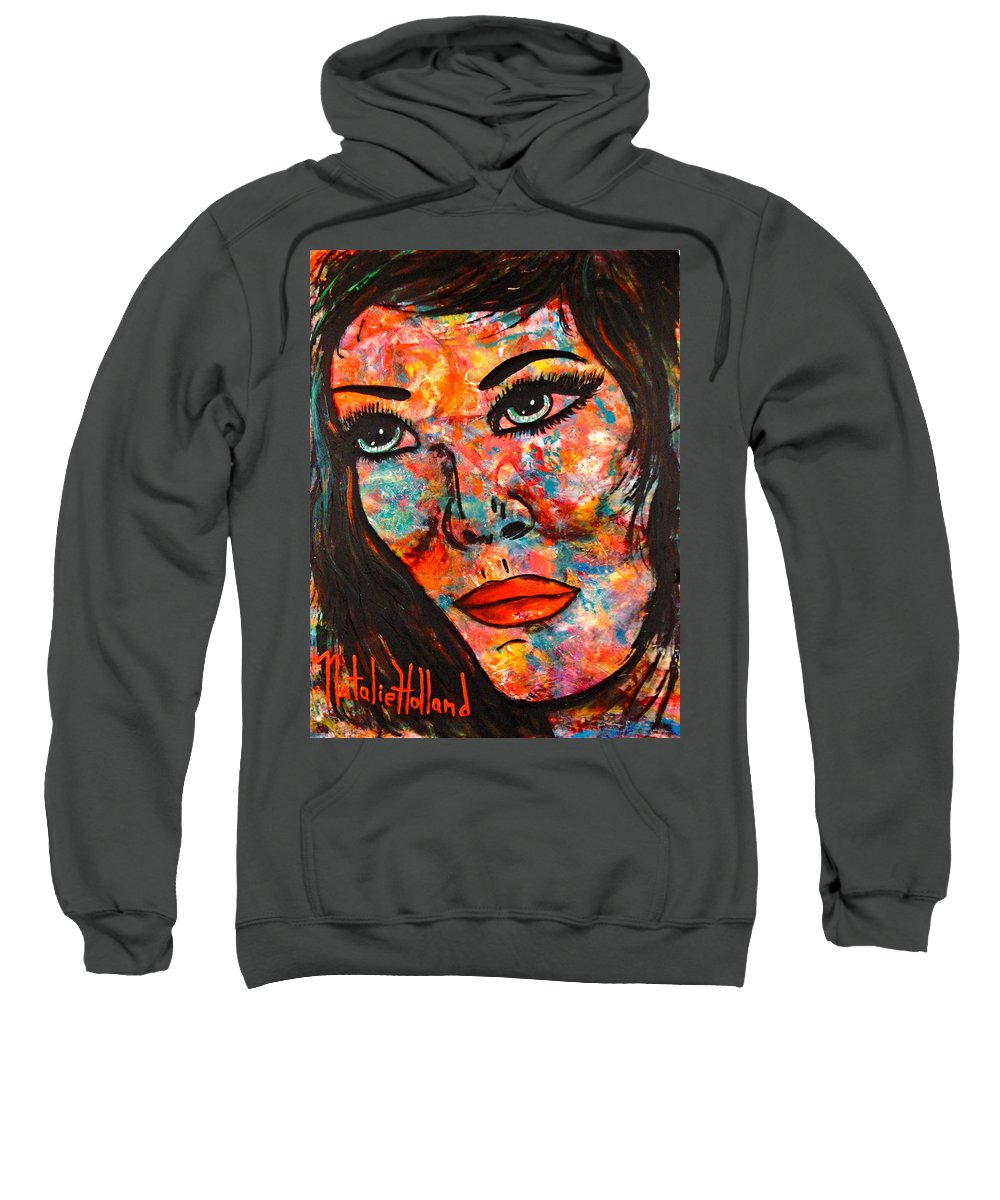 Expressionism Sweatshirt featuring the painting Still Searching by Natalie Holland