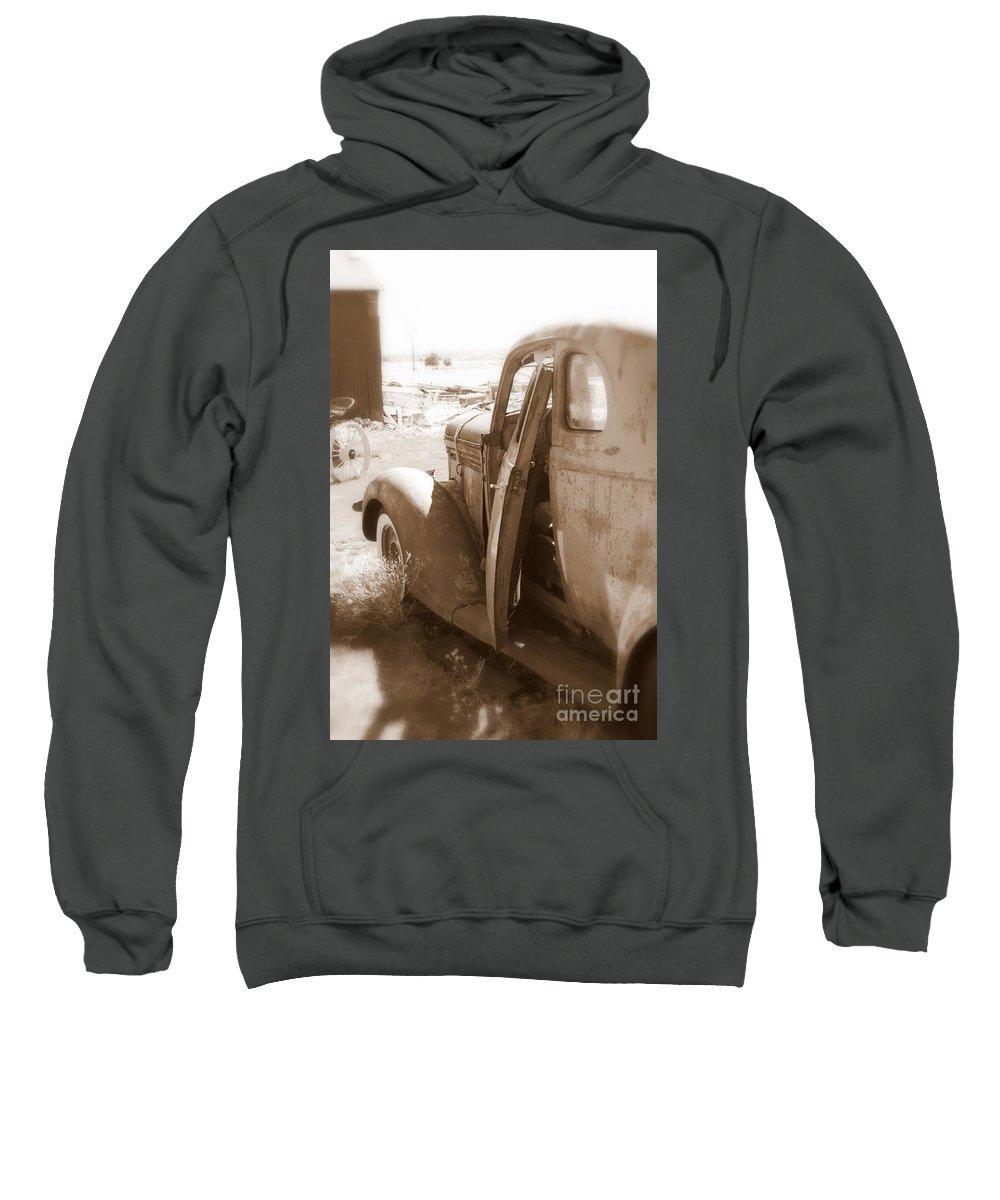 Disrepair Sweatshirt featuring the photograph Still Waiting On Repairs by Carol Groenen