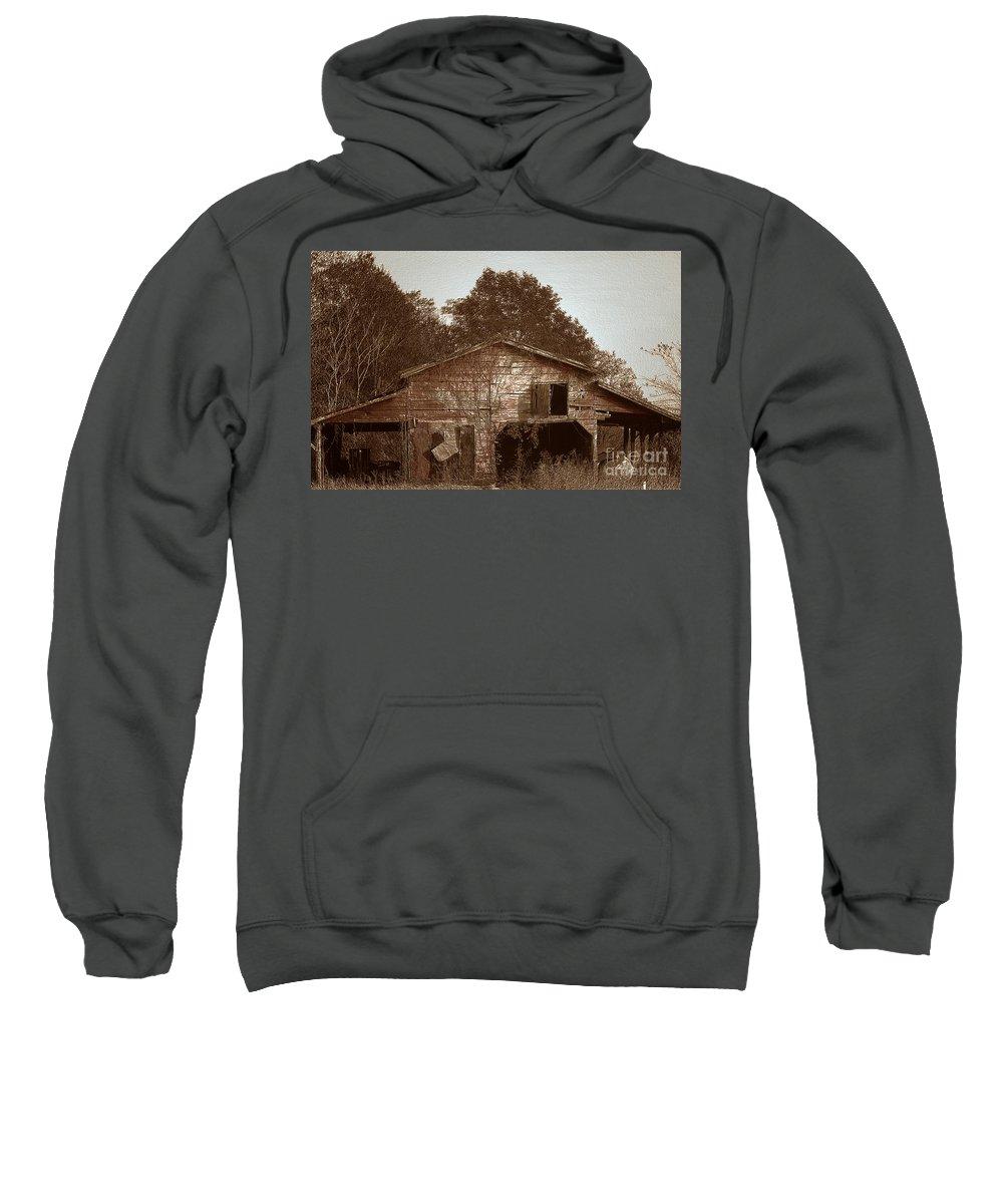 Barn Sweatshirt featuring the photograph Still Working by Amanda Barcon