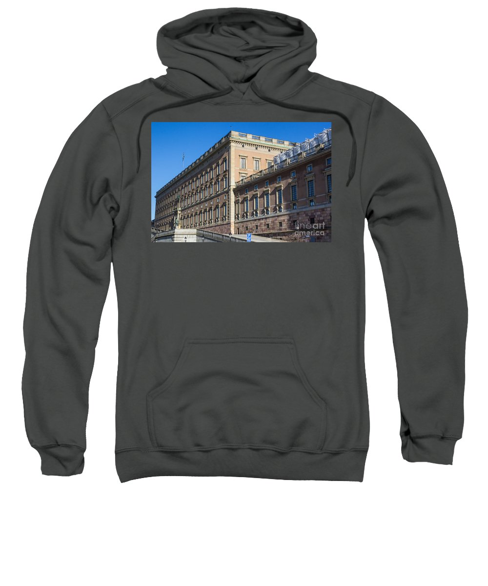 Stockholm Sweatshirt featuring the photograph Stockholm Royal Palace by Suzanne Luft