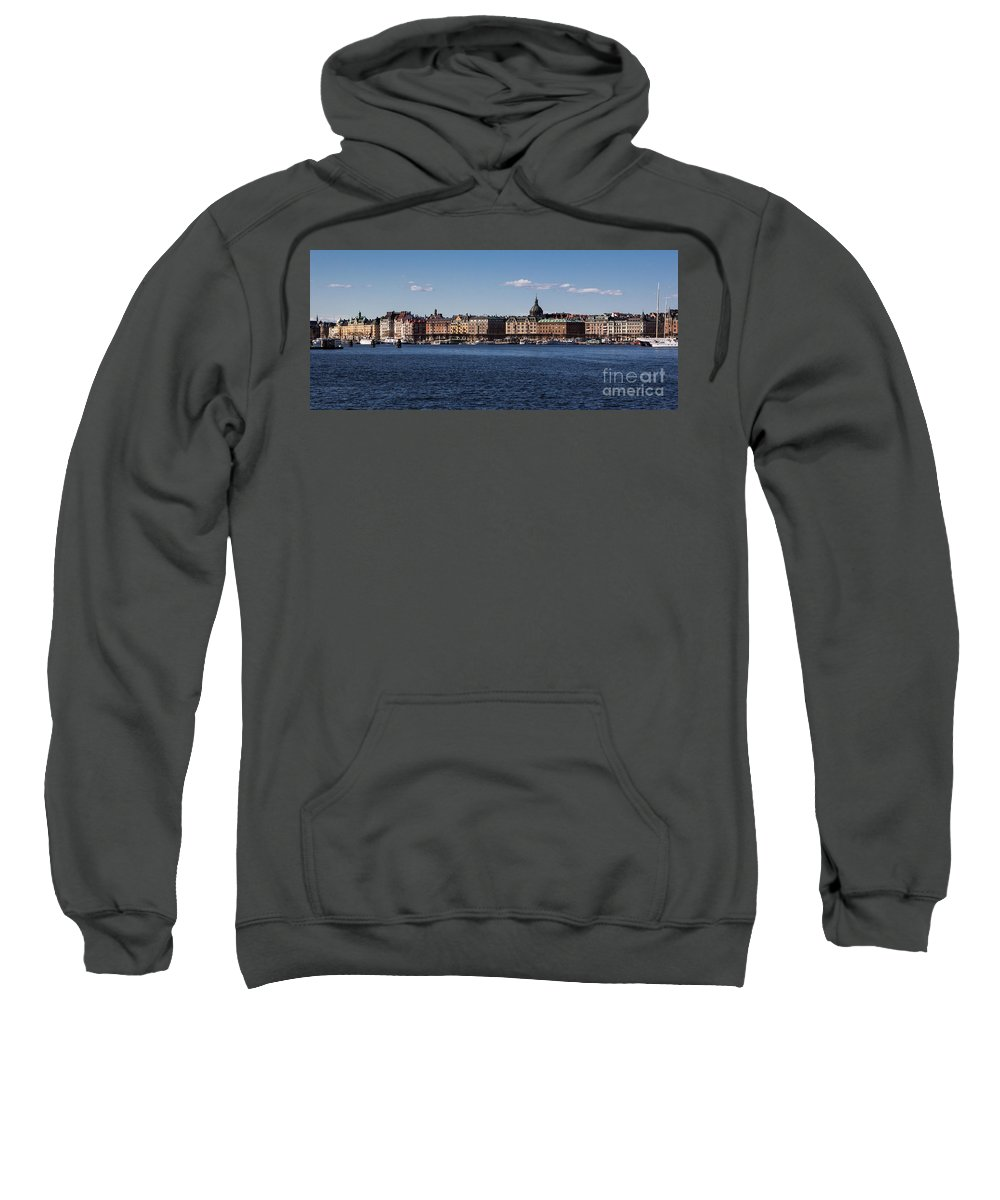 Stockholm Sweatshirt featuring the photograph Stockholm Waterscape by Suzanne Luft