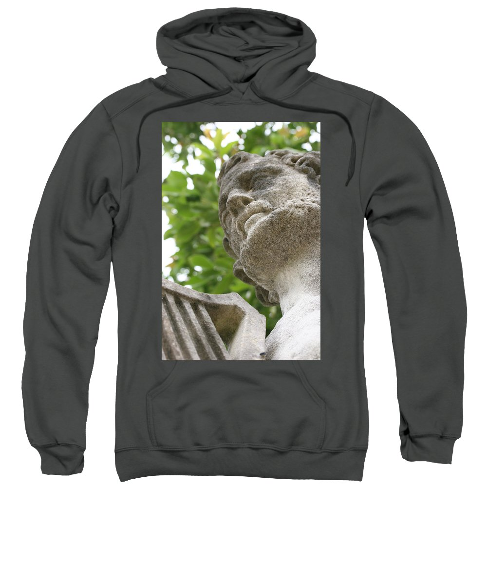 Stone Statue Viscaya Gardens Miami Photography Garden Sweatshirt featuring the photograph Stone 1 by Norah Holsten