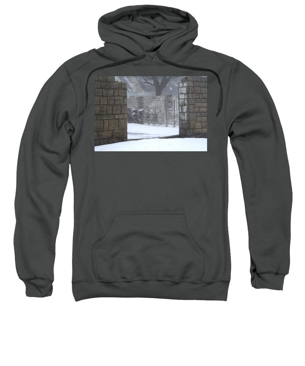 Winter Sweatshirt featuring the photograph Stone Cellar by Tim Nyberg