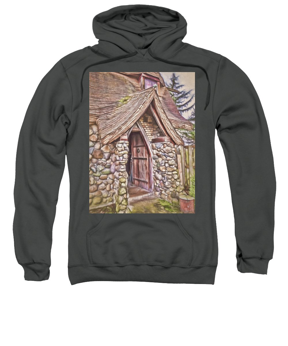 Stone Sweatshirt featuring the photograph Stone House In Skagit County by Daniel Penn