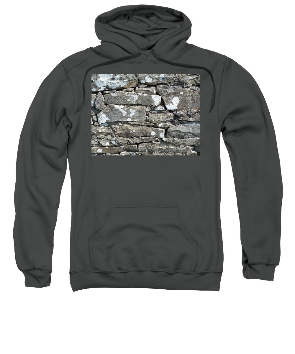 Irish Sweatshirt featuring the photograph Stone Wall Detail Doolin Ireland by Teresa Mucha