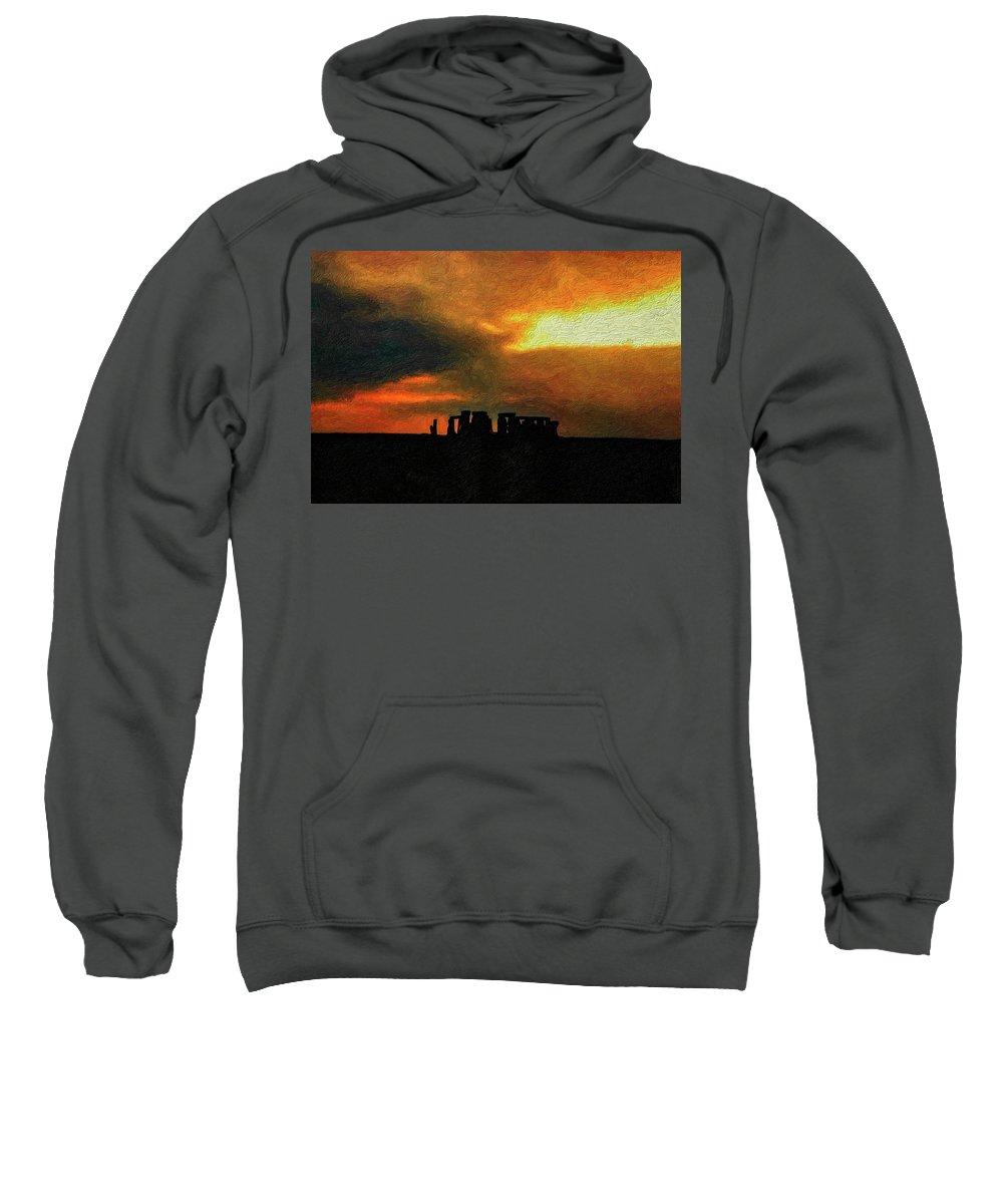 Stonehenge Sweatshirt featuring the photograph Stonehenge by Steve Harrington