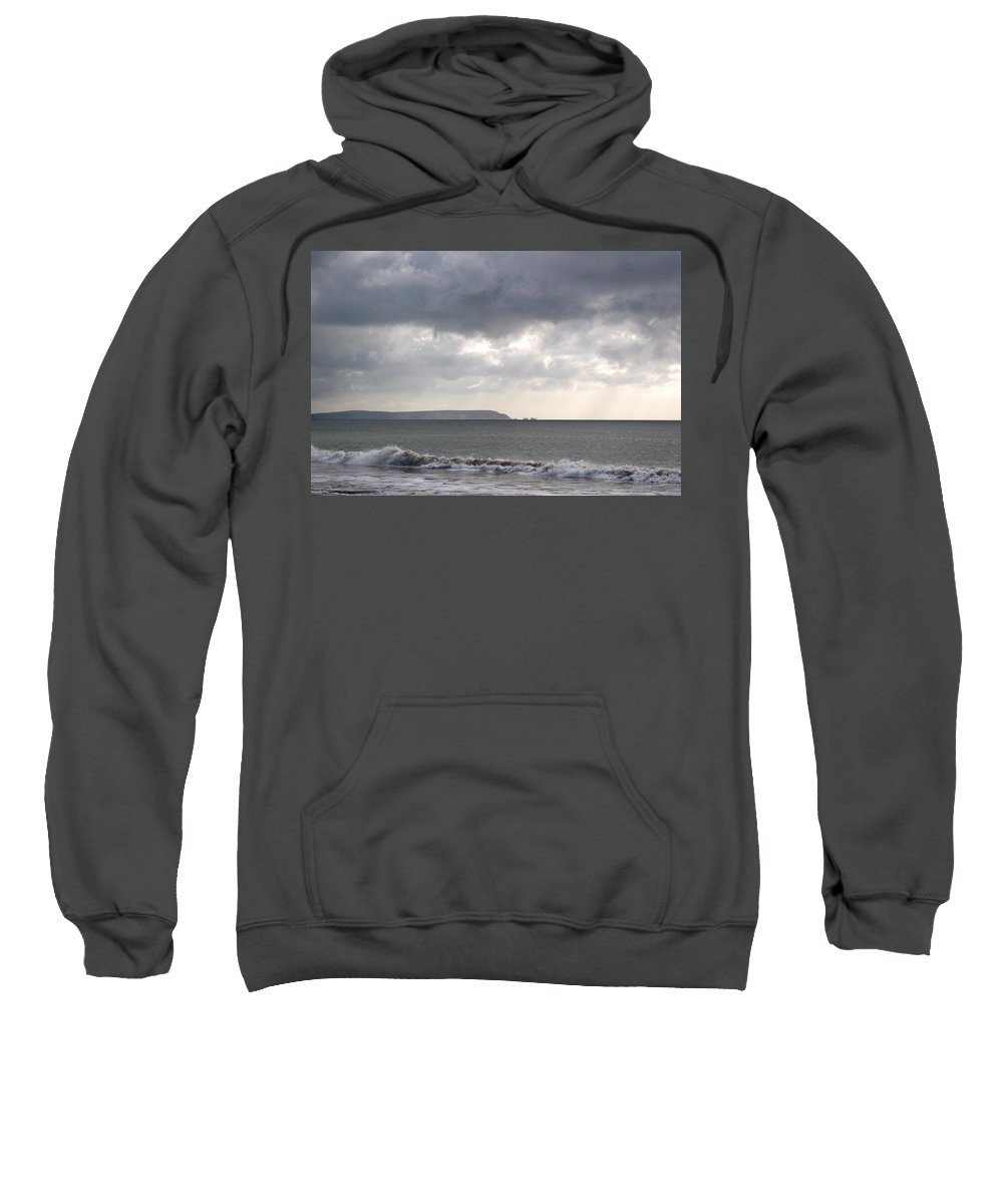 Isle Of Wight Sweatshirt featuring the photograph Storm Brewing Over The I O W by Chris Day