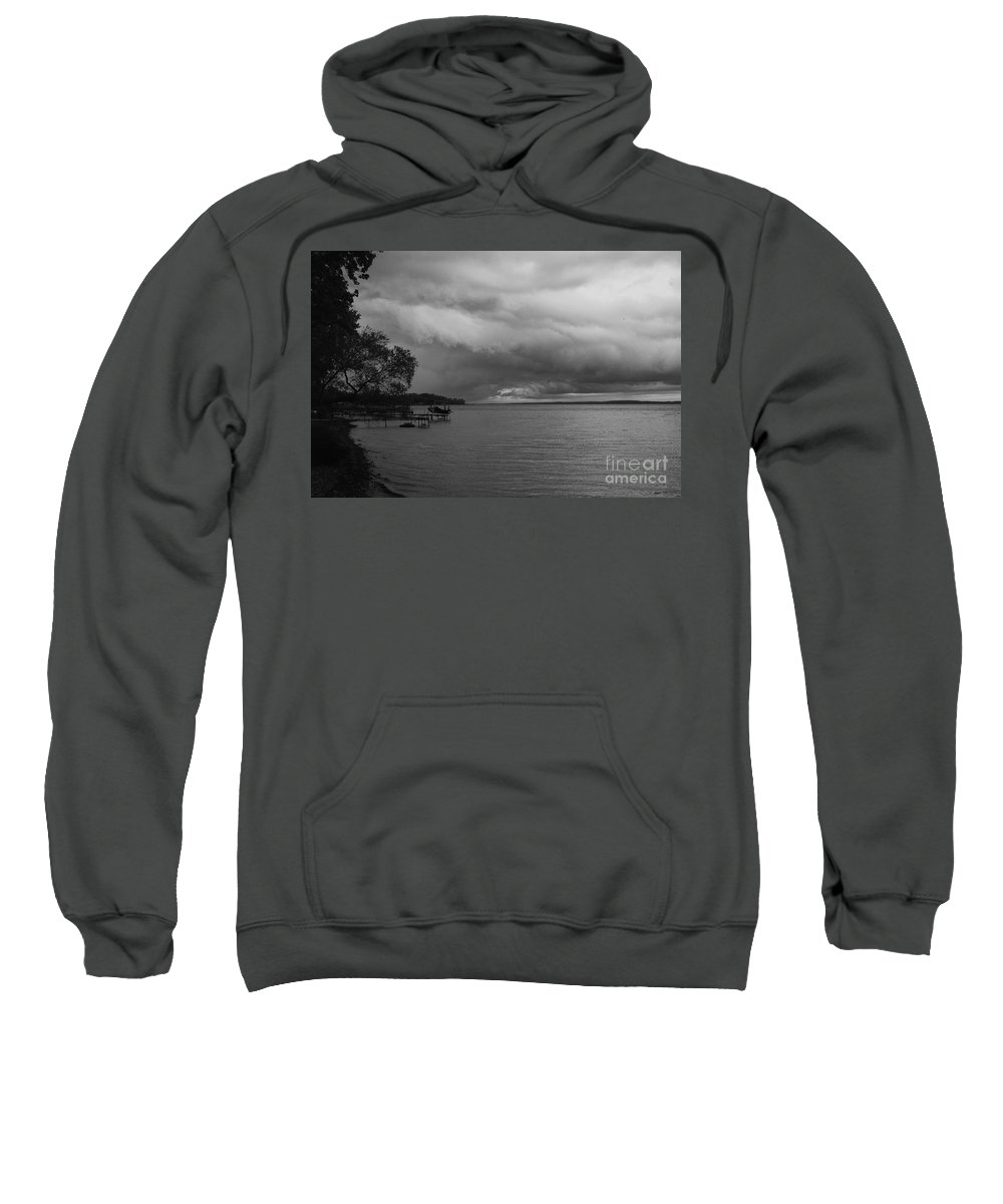 Seneca Lake Sweatshirt featuring the photograph Storm Clouds by William Norton