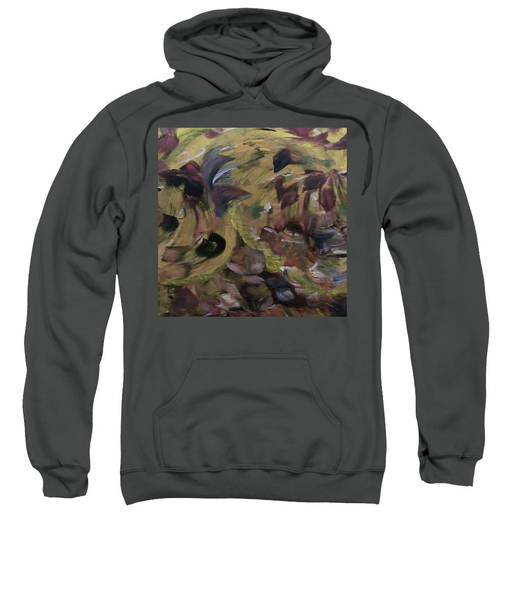 Abstract Sweatshirt featuring the painting Storm by Rodica Vinca