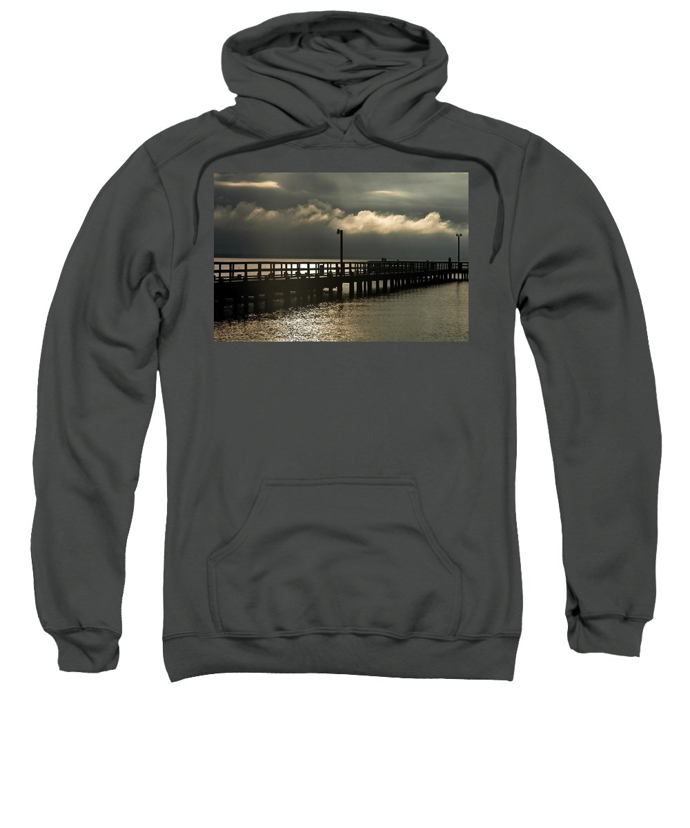 Clay Sweatshirt featuring the photograph Storms Brewin' by Clayton Bruster