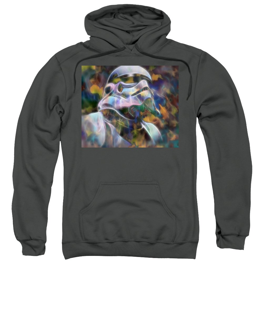 Stormtrooper Sweatshirt featuring the painting Stormtrooper by Dan Sproul