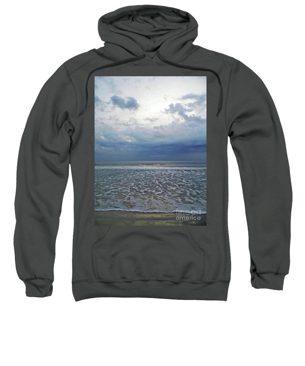 Sunrise Sweatshirt featuring the photograph Stormy Beach Beauty by D Hackett